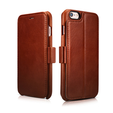 ICARER Genuine Leather Case For iPhone 6s Plus 5.5inch With Photo Frame Card Holder Magnetic Flip Cover Stand Case For iPhone6 P
