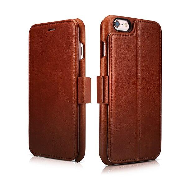 ICARER originální kožené pouzdro pro iPhone 6s plus 5,5 palce s držákem na fotorámeček, magnetický výklopný kryt, pouzdro pro iPhone6 P