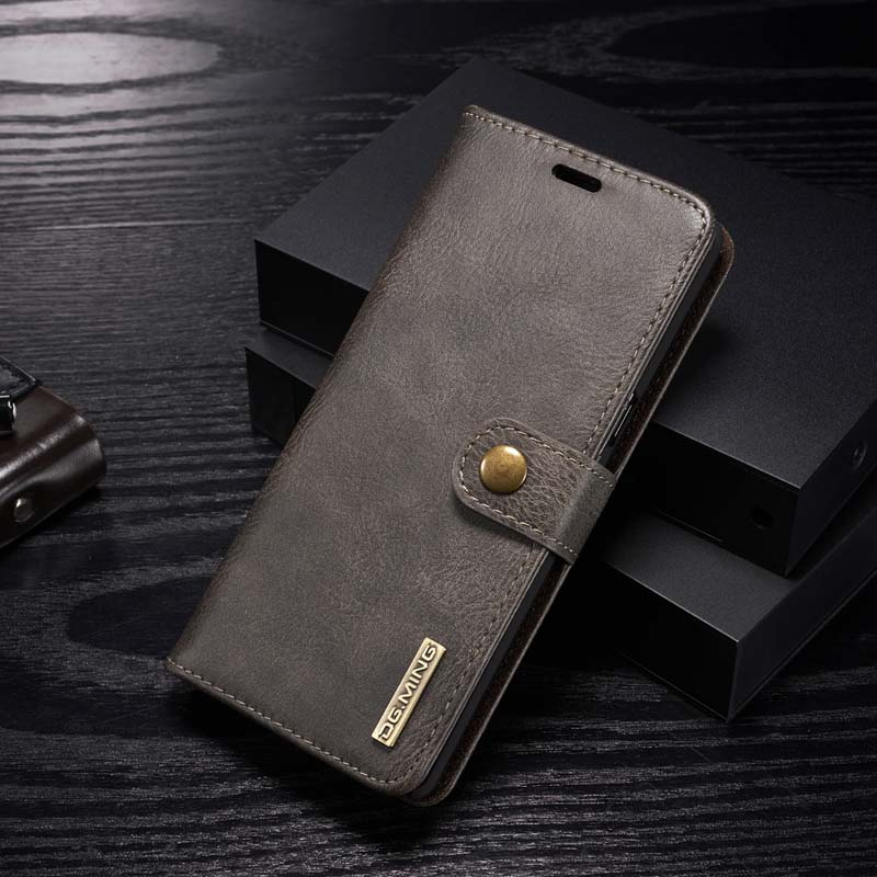 DG. ming оригинальный бренд Роскошный кожаный чехол флип Магнитная Крышка для Samsung Galaxy Note 8 2 в 1 съемная чехол для телефона js0162