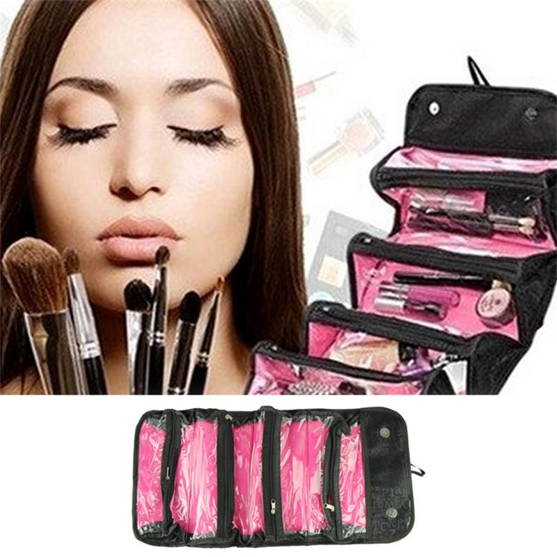 New 2016 Women Cosmetic Bag  Travel Cosmetic Case/ Make Up Professional Cosmetic Cases Fashion Wemen Bag Business Ladies Lucky