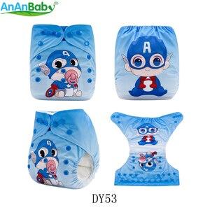 Image 5 - AnAnBaby 5 stücke Wählen Frei Position Gedruckt Tasche Baby Windeln Mehrweg Waschbar Mit Einsätzen
