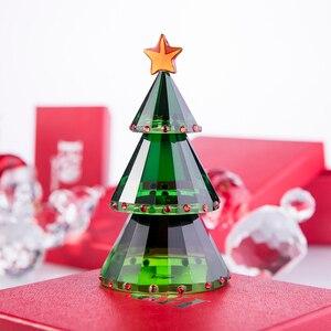Image 2 - H & dグリーンクリスタルガラスクリスマスの置物ギフトボックス手作りグッズギフトクラフトクリスマスの日