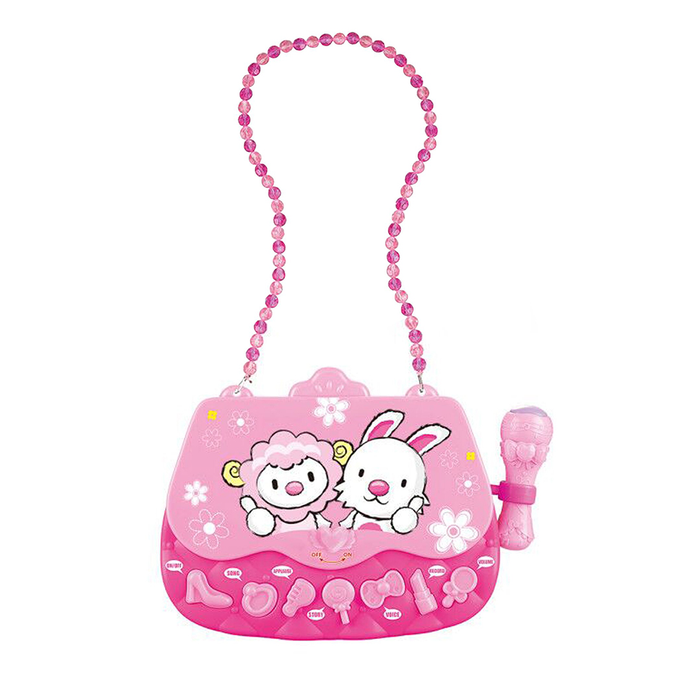 Children Karaoke Players Portable Musical Bag with Microphone Support Girl Learing Music Kit Early Educational Toys For Children