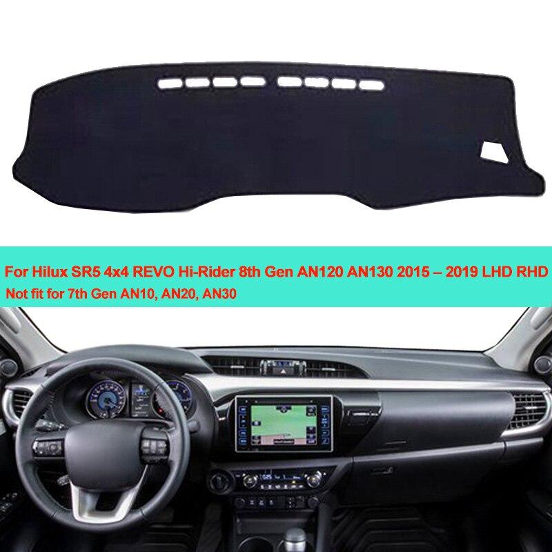 Car Inner Dashboard Cover Dash Mat Carpet For Toyota Hilux SR5 4x4 REVO Hi-Rider 8th Gen AN120 AN130 2015 2016 2017 2018 2019