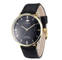 Jijia Informal Trend Type Extremely Slim Males Watch Japan Quartz And Leather-based Strap Date Perform Wristwatch SG1279 black