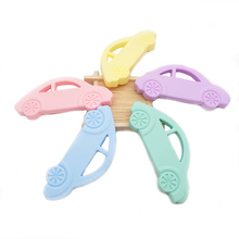 Chenkai 10PCS Silicone Car Teether Cartoon Pacifier BPA Free For DIY Baby Nursing Teething Chewing Pendant Toy Gfits