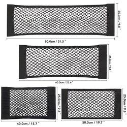 Assento de carro de Volta Traseiro Tronco Corda Elástica Net Etiqueta Mágica Gaiola de Malha Saco De Armazenamento de Bolso Organizador Auto Assento Saco de Volta 40*25cm