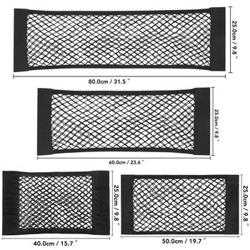 Samochodów powrót z tyłu fotel w bagażniku elastyczne stringi netto magiczna naklejka siatkowa torba do przechowywania kieszonkowy klatka organizator samochodowy oparcie siedzenia torba 40*25cm tanie i dobre opinie CN (pochodzenie) Pojemnik do bagażnika Torba Nylon Car trunk mesh net Black 40 x 25cm 50 x 25cm 60 x 25cm 80 x 25cm Universal for all the cars