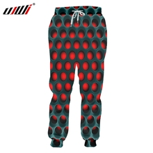 UJWI New Long Funny  3D Sweatpants Print Red Black Mesh Hip Hop Plus Size 5XL Clothing Male Spring Pants Dropshipping