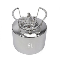 6L Stainless steel Ball Lock Cornelius Style Beer OB Keg With Newest and High Quality Metal Handles