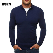 Men'S Pullover Sweaters 2017 New Brand Casual Sweater Turtleneck Slim Fit Knitting Mens Sweaters Men Solid Color Pullover M-3XL