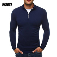 Men S Pullover Sweaters 2017 New Brand Casual Sweater Turtleneck Slim Fit Knitting Mens Sweaters Men