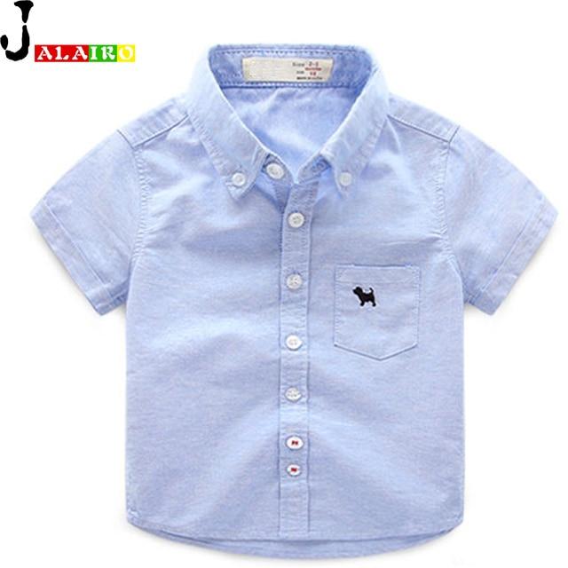 e8e92ca1a 2016 Baby Boys Shirts White Pink Blue Yellow Boy Shirt Short Sleeve ...