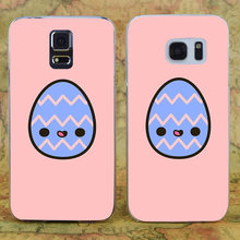 E3673 feliz Pascua huevo transparente duro PC funda para Samsung Galaxy Note S 3 4 5 6 7 8 9 Mini Edge Plus(China)
