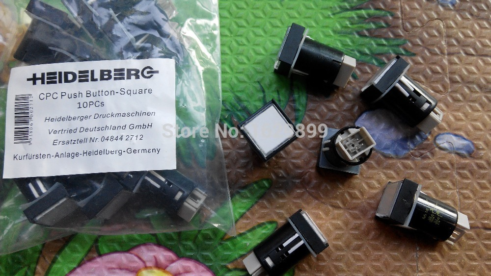 10 pieces high quality push button switch 81.186.3855/01 for heidelberg printing machine, Illuminated push button,81.186.3855