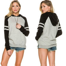 New Casual Womens Long Sleeve Hoodie Sweatshirt Pullover Tops Coat Fashion Patchwork Hoodies Women Sweatshirts