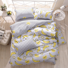 Wongsbedding Banana Duvet Cover Bedding Set Bed Sheet Single Full Queen King Size 3/4PCS Bedclothes