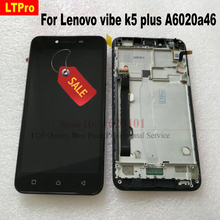LTPro высокое качество протестированный черный ЖК-дисплей сенсорный дигитайзер экран в сборе с рамкой для Lenovo K5 Plus A6020A46 части телефона