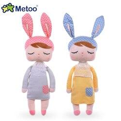 Metoo angela boneca coelho macio brinquedo de pelúcia animais de pelúcia coelho brinquedos de frutas bonecas para o bebê crianças meninas meninos natal presentes de aniversário
