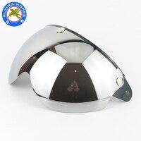 Gratis verzending 3-snap open helm vizier vintage motorhelm W shield vizier lens GETINTE SHIELDglasses retro VIZIER