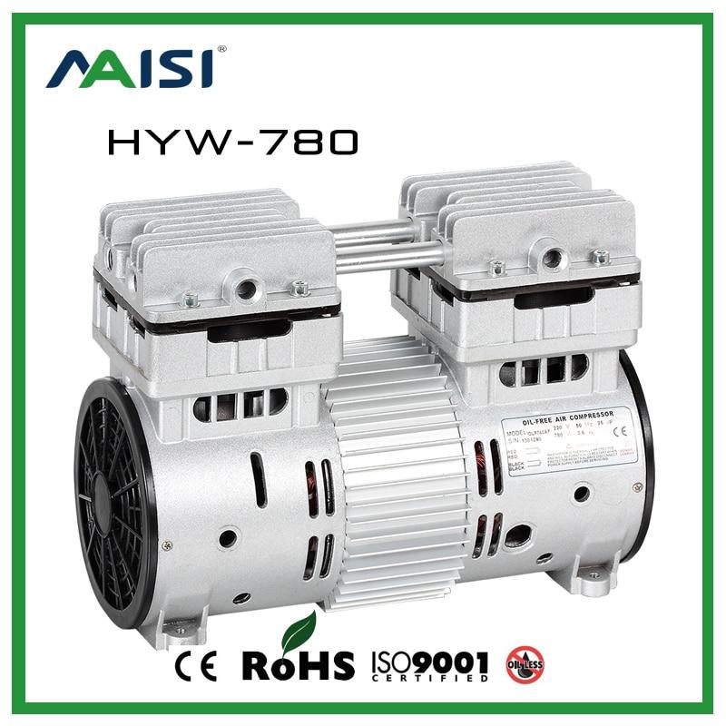 220V/50HZ (AC) 120L/MIN 780 W small electric piston compressor pump HYW-780 hyw 850 110v ac 115l min 850 w oil free piston compressor pump