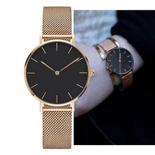 91087bd25e8f Dropshipping watch 2018 fashion rose gold women watches 38mm ultra thin DW  style watch luxury brand men watch female clock gift
