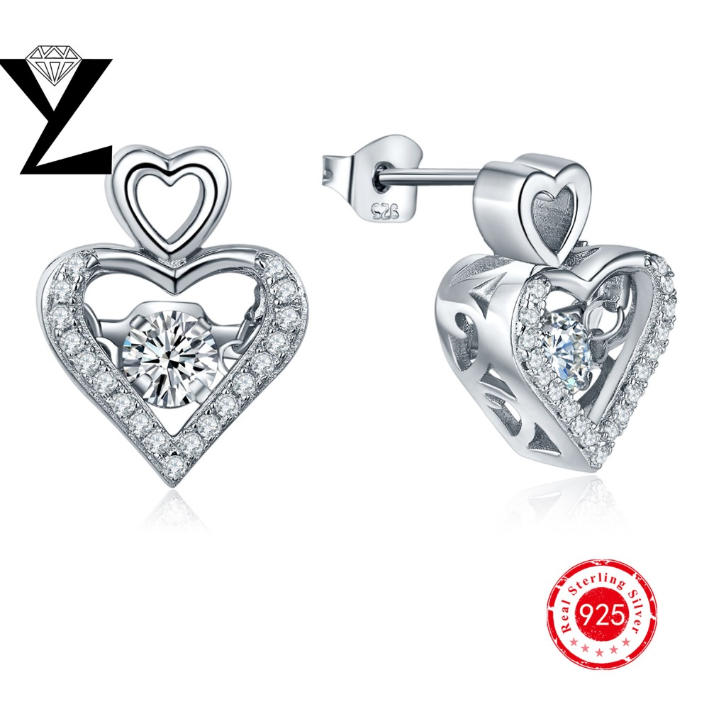 White Crystal Zircon Earrings Dancing Cz Diamond S