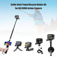 VODOOL Camera Selfie Stick Tripod Bicycle Holder Kit for DJI OSMO Action Diving Sport Camera Complete Selfie Sticks Accessories