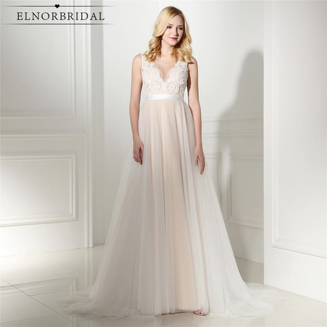Aliexpress.com : Buy Elnorbridal Real Photo Champagne Evening Dress ...