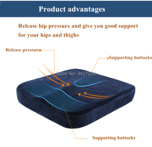 Free shipping 40 40 6cm Comfort Gel Memory Cotton Wheelchair Seat Cushion