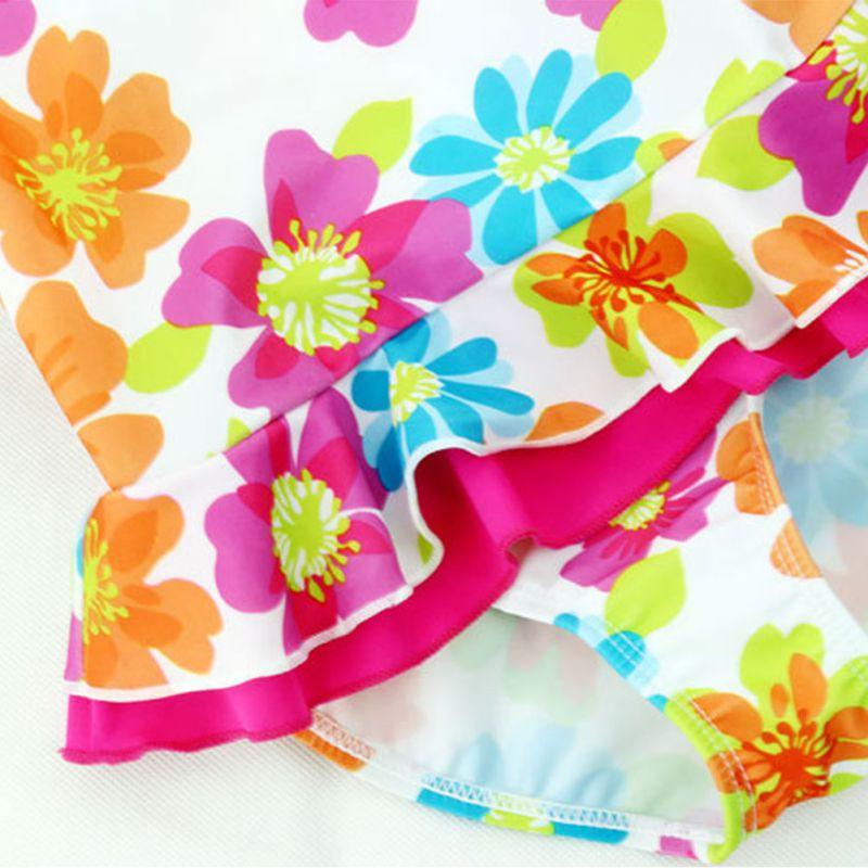 i bambini di balneazione vestiti di estate delle ragazze floreale bikini costumi da bagno per bambini