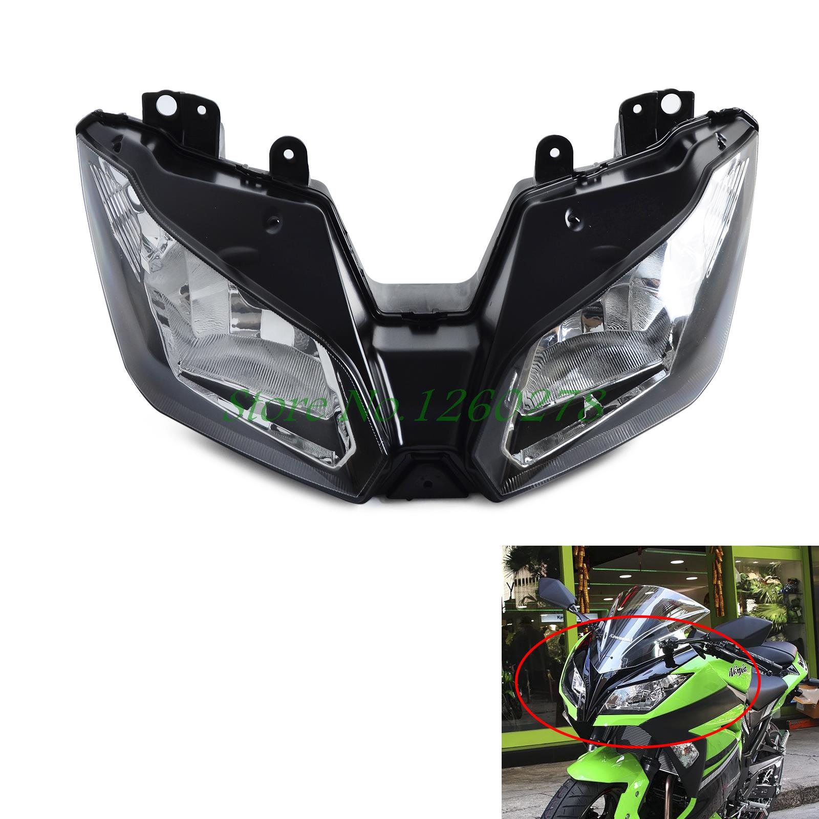 Motorcycle Headlights Headlamp Head Light Lamp Assembly For Kawasaki NINJA 300 2013 2014 2015 2016 VERSYS 650 1000 2015 2016 for kawasaki motorcycle chain adjuster tensioner autobike chain regulator ninja300 ninja 300 2013 2015 2016 2014