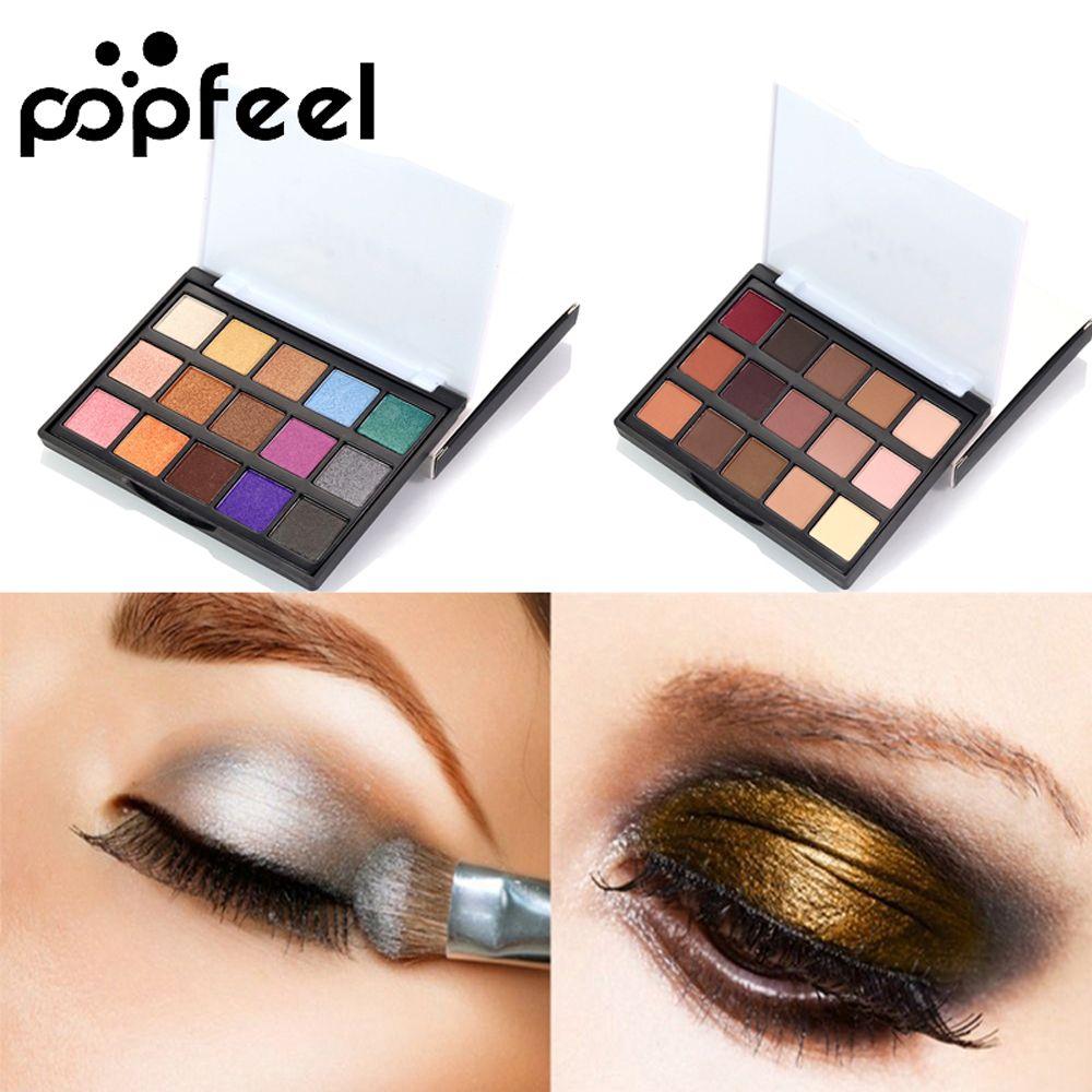 Popfeel High Pigment Matte Eyeshadow Eyes Makeup Pallete Shimmer Eye Shadow Palette Glitter Waterproof Lasting Makeup Easywear Beauty & Health Eye Shadow