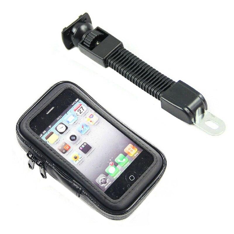 """imágenes para Universal de 5.5 """"-6.3"""" teléfono móvil gps case motocicleta de la vespa eléctrica del coche del rearview mirror mount soporte del sostenedor impermeable bolsa"""
