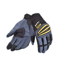 Motorcycle Rally GS Gloves FOR BMW GS1200 GS Cycling Yellow Blue Leather Gloves