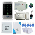 Full Access Control System Kit Set With Access Control Lock+Power Supply+Remote Control+RFID Metal Waterproof Keypad+exit swirch