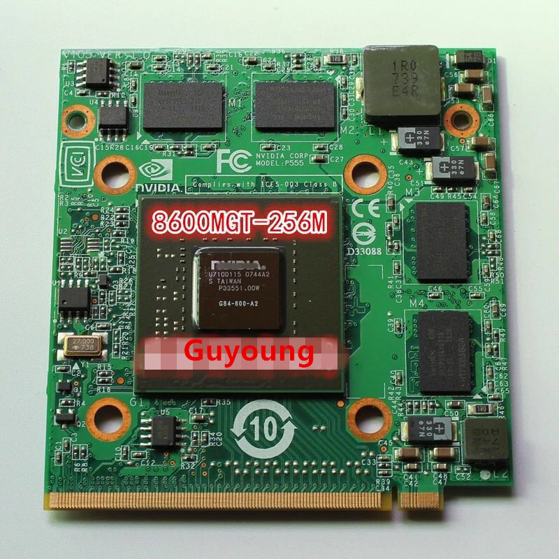 8600M GT 8600MGT MXM II DDR2 256MB G84 600 A2 Graphics Video Card for Acer 5920G