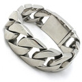 25mm Guarantee 100% Huge&Heavy Silver Bracelet Bangles Polish Men Biker Chain Stainless Steel