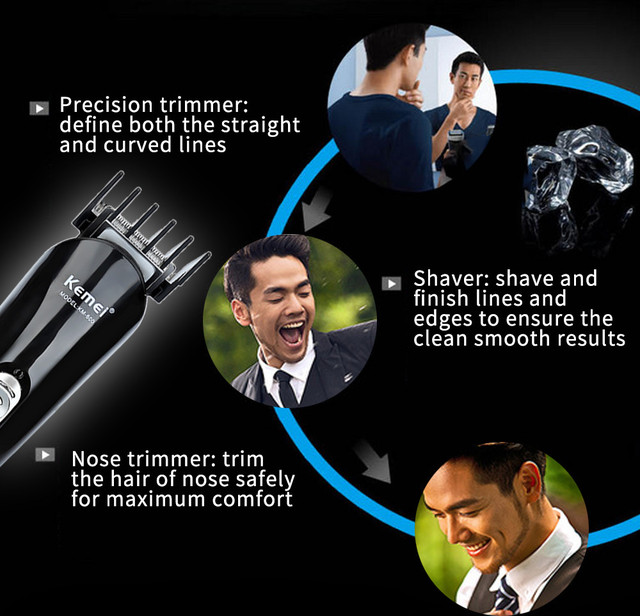 Kemei KM - 600 Professional Hair Trimmer 6 In 1 Hair Clipper Shaver Sets Electric Shaver Beard Trimmer Hair Cutting Machine 1