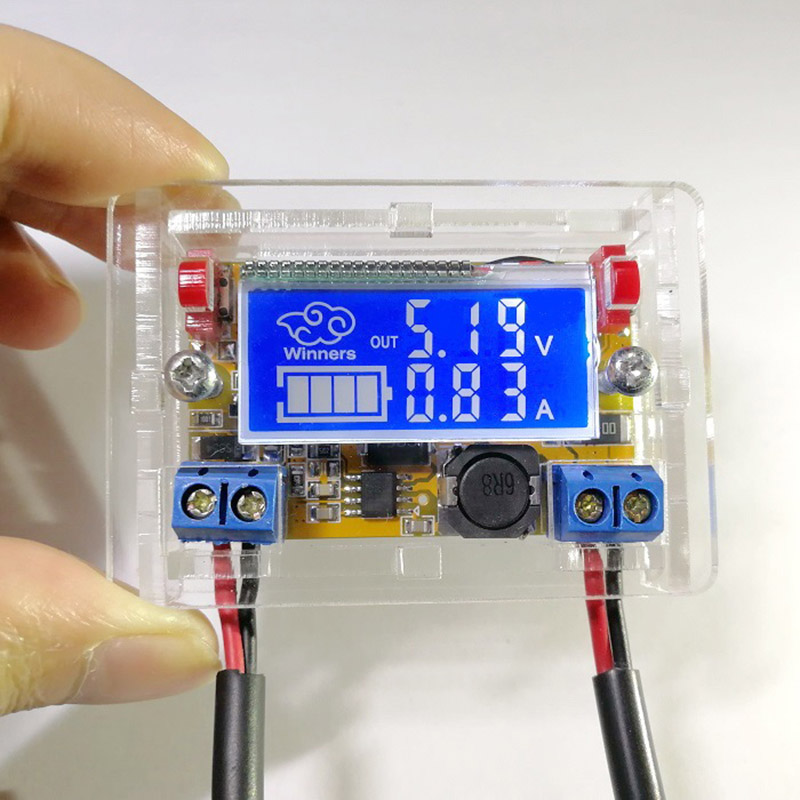 DC-DC Adjustable Step Down Power Supply Module Voltage Current LCD Display Shell XXM8