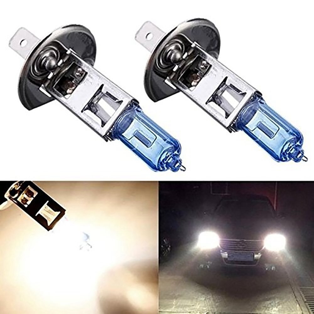 2pcs H1 55W 12V Halogen Bulb Super Xenon White Fog Lights High Power Car Headlight Lamp 6000KCar Light Source Parking Bulbs