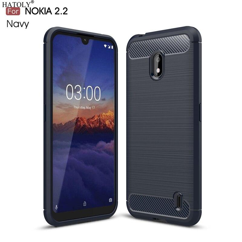 Phone-Bumper-Case Back-Cover Shockproof Carbon-Fiber Silicone Nokia