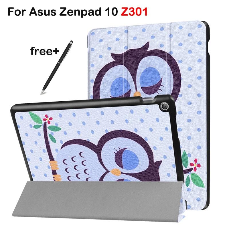 все цены на Case For Asus Zenpad 10 Z301 Tri-fold Protective Case for Asus 10.1 Tablet Z301MLF Z301ML Z301 (2017 new release) онлайн