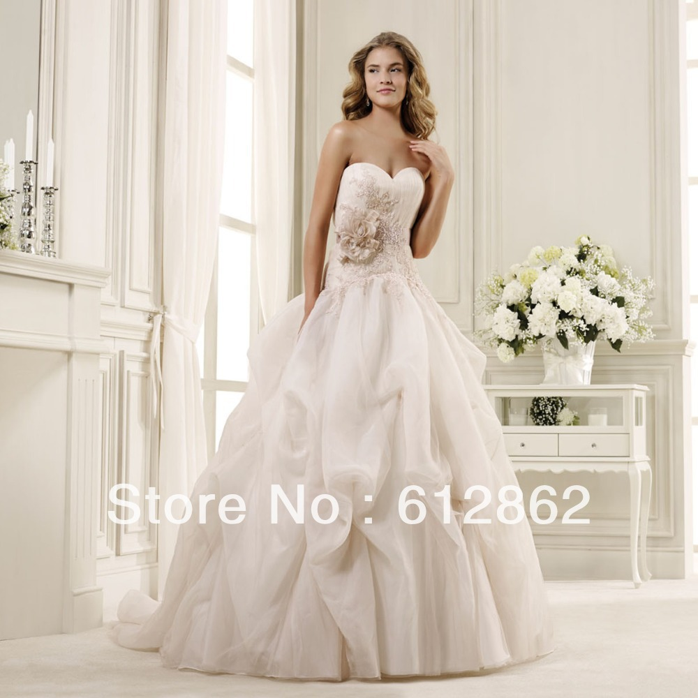 Champagne Ball Gown Wedding Dresses: Aliexpress.com : Buy Elegant Strapless Sweetheart Neckline