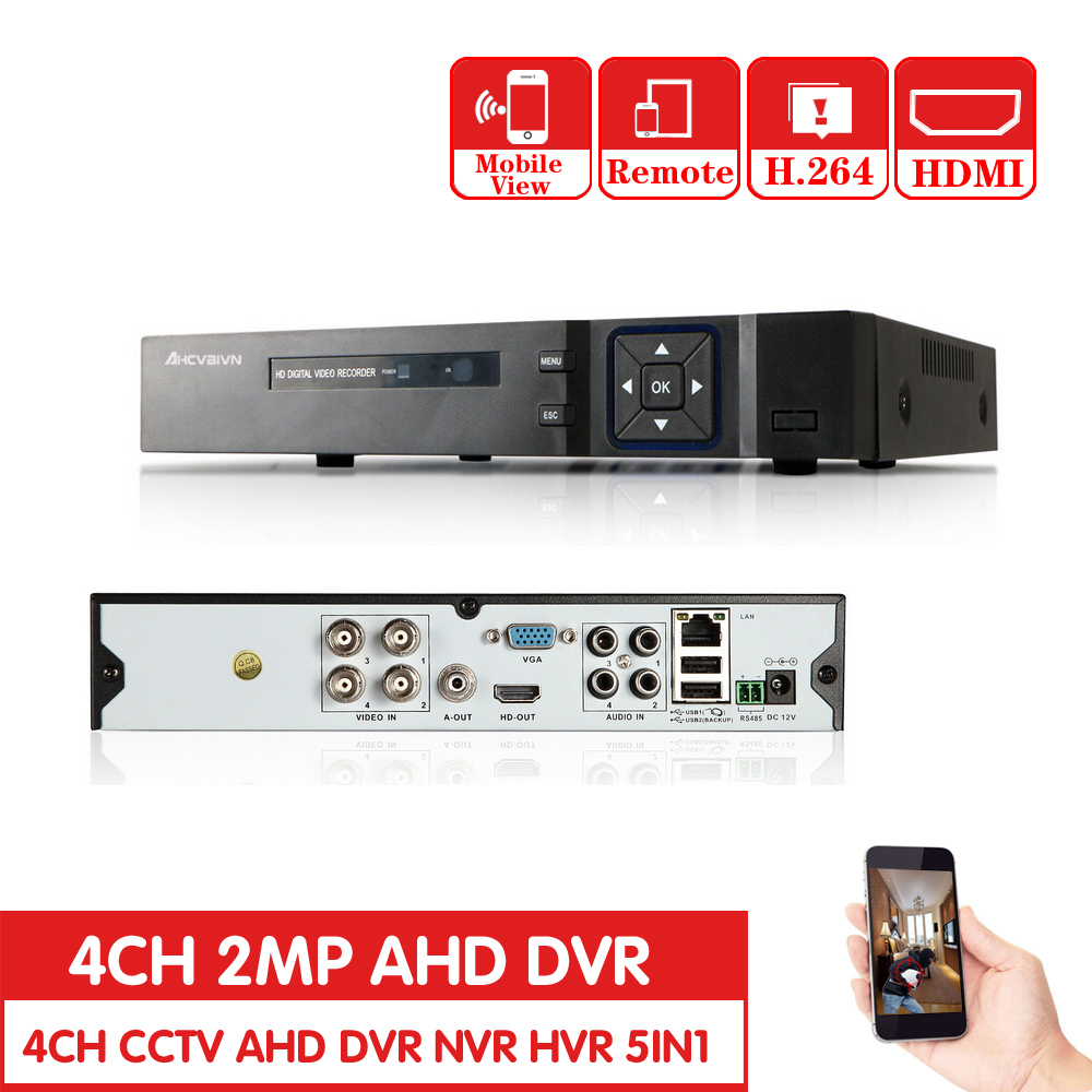Home Security CCTV AHD DVR 4CH HD 1080P Video Recorder H.264 CCTV Camera 4 Channel NVR Multi-language Email AlarmHome Security CCTV AHD DVR 4CH HD 1080P Video Recorder H.264 CCTV Camera 4 Channel NVR Multi-language Email Alarm