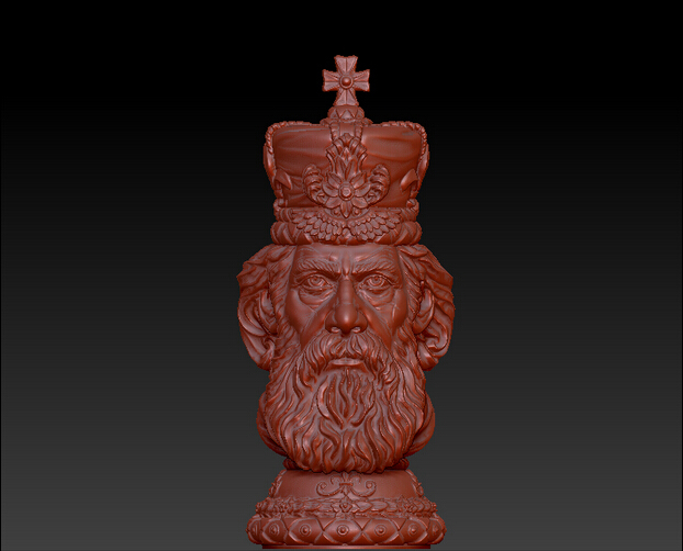 High Quality 3D Model Relief STL Format CNC King Of Chess