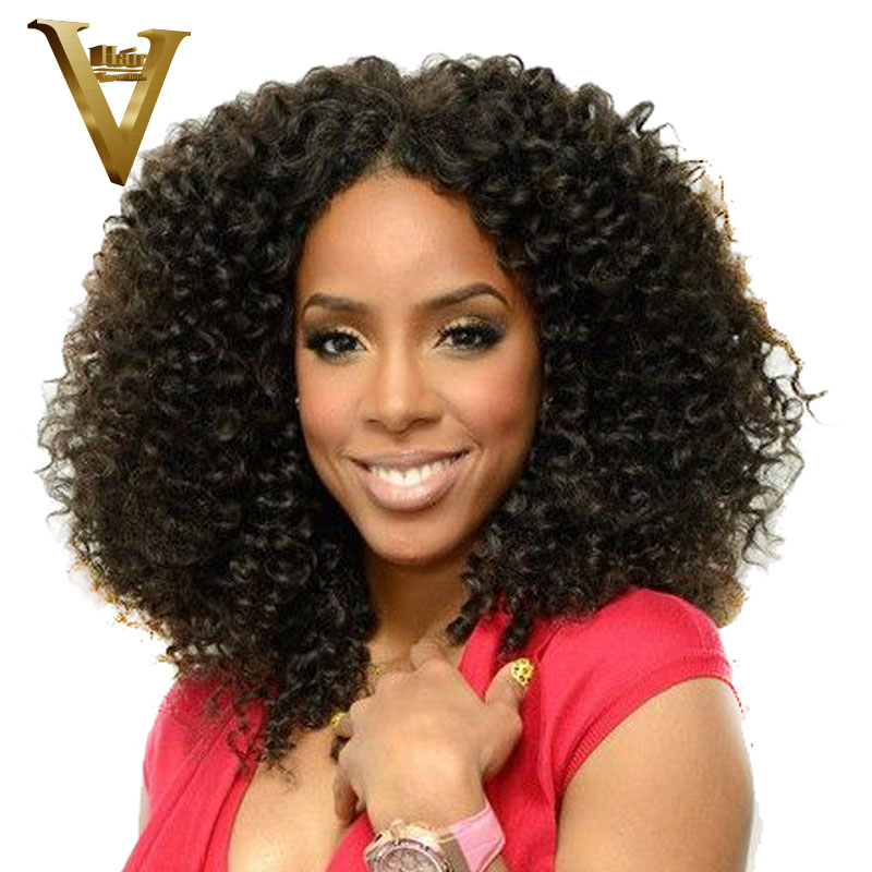 Kinky Curly Lace Front Human Hair Wigs With Baby Hair Brazilian Remy 100 Human Hair Kinky