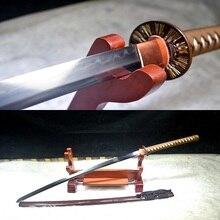 鋼日本サムライ高品質真鍮鍔刀リアル横手剣 T-10 粘土強化