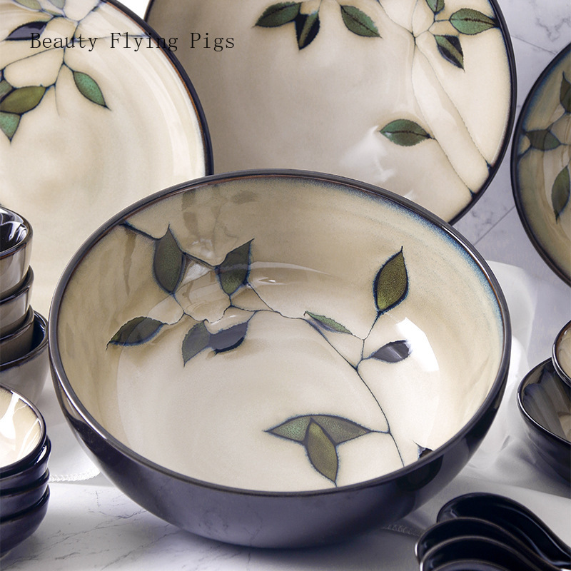 Hand-Painted Japanese Ceramic Dishes Set 3