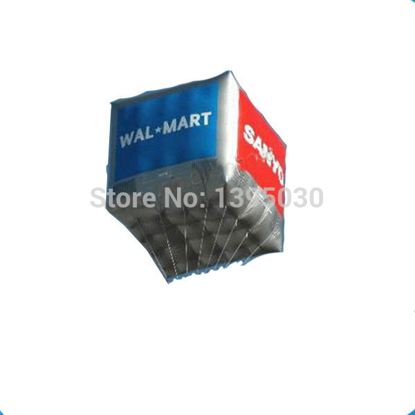 Коммерческая площадь Форма реклама надувные шары с напечатанный цифровой логотип